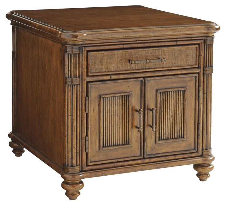 Bali Hai Mariner Storage End Table by Tommy Bahama Home at Baer's Furniture; 26Wx28Dx24.5H $ 1,250.00