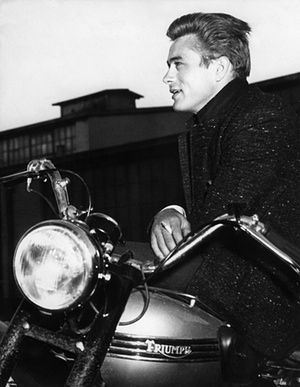James Dean | The Guardian: Triumph motorcycles at the movies - in pictures