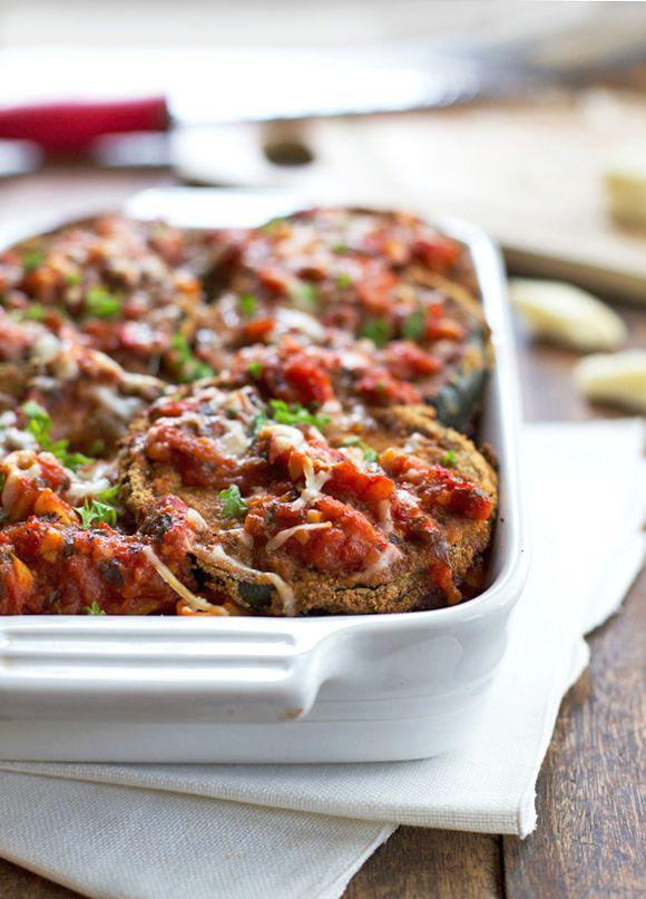 Skinny Baked Zucchini Parmesan