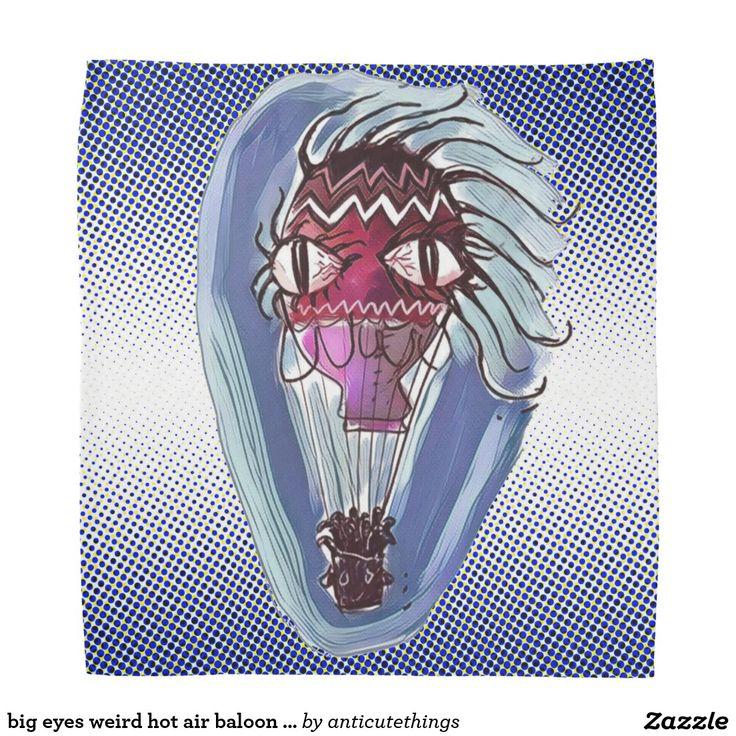 big eyes weird hot air baloon cartoon