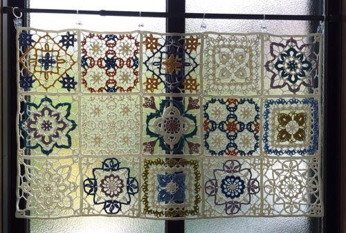 crochet motif curtain                                                                                                                                                                                 More