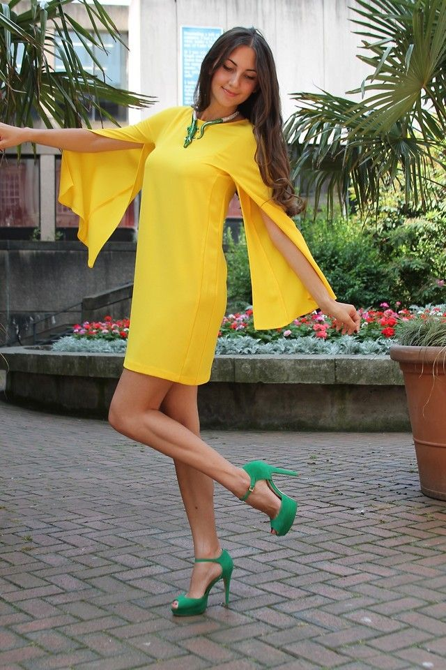 H m lanvin yellow dress derby