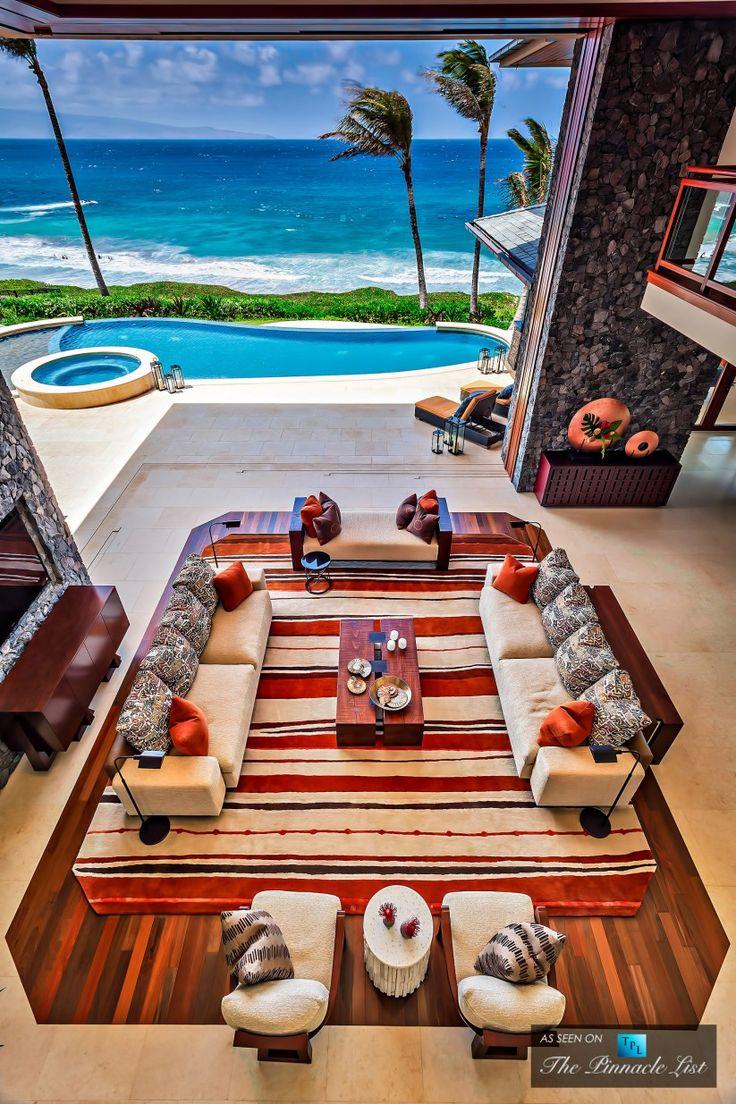 Living Room - 3 Kapalua Place, Kapalua, Lahaina, Maui, Hawaii