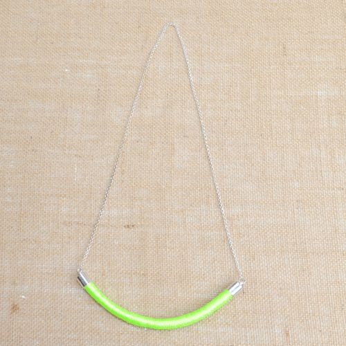Holi Fluro Green Cord Necklace
