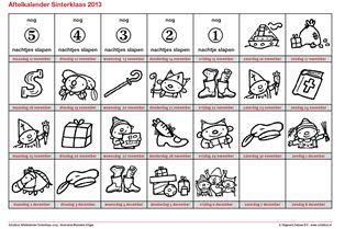 Download de Rompompom aftelkalender voor Sinterklaas