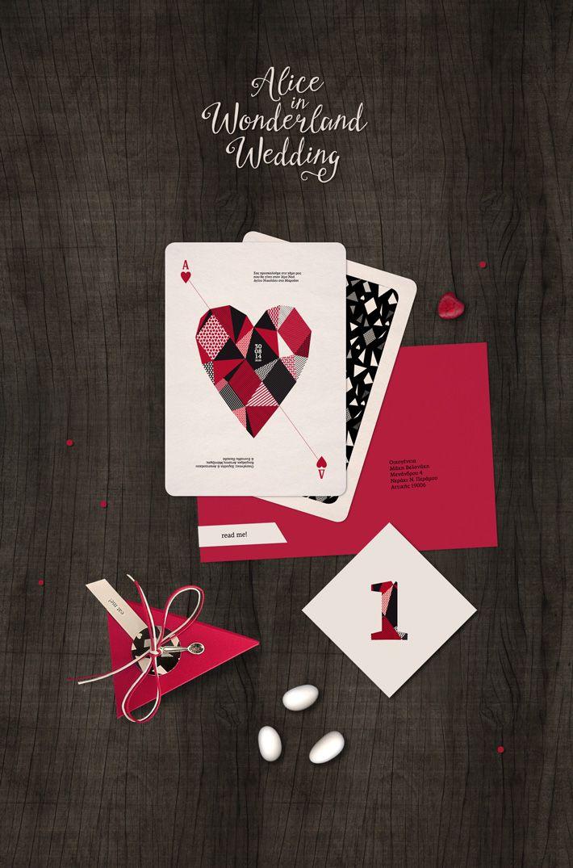 Alice in Wonderland inspired wedding Stationery