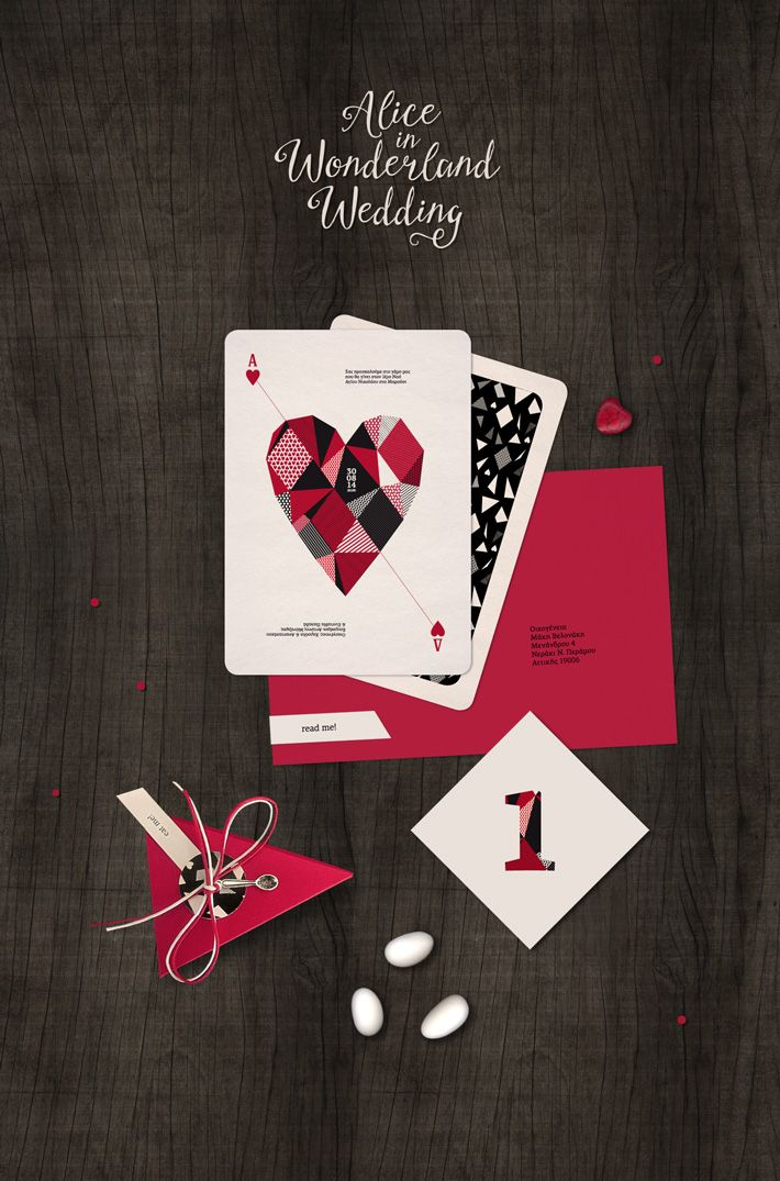 Alice in Wonderland inspired wedding Stationery