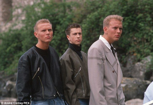 Heyday: Matt with fellow Bros stars Luke Goss and Craig Logan, before they split in 1989