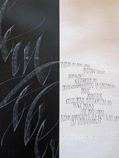 Manuela Maurer - Kalligraphie                                                                                                                                                                                 Mehr