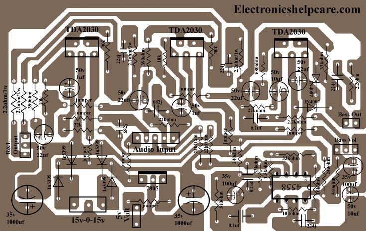 2.1 home theater circuit diagram in 2020 | Circuit diagram ...