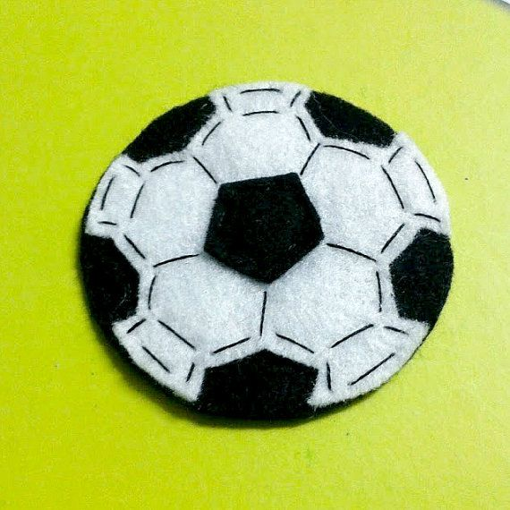 Soccer Ball / Football Felt Applique 50 mm / 2 inches diameter