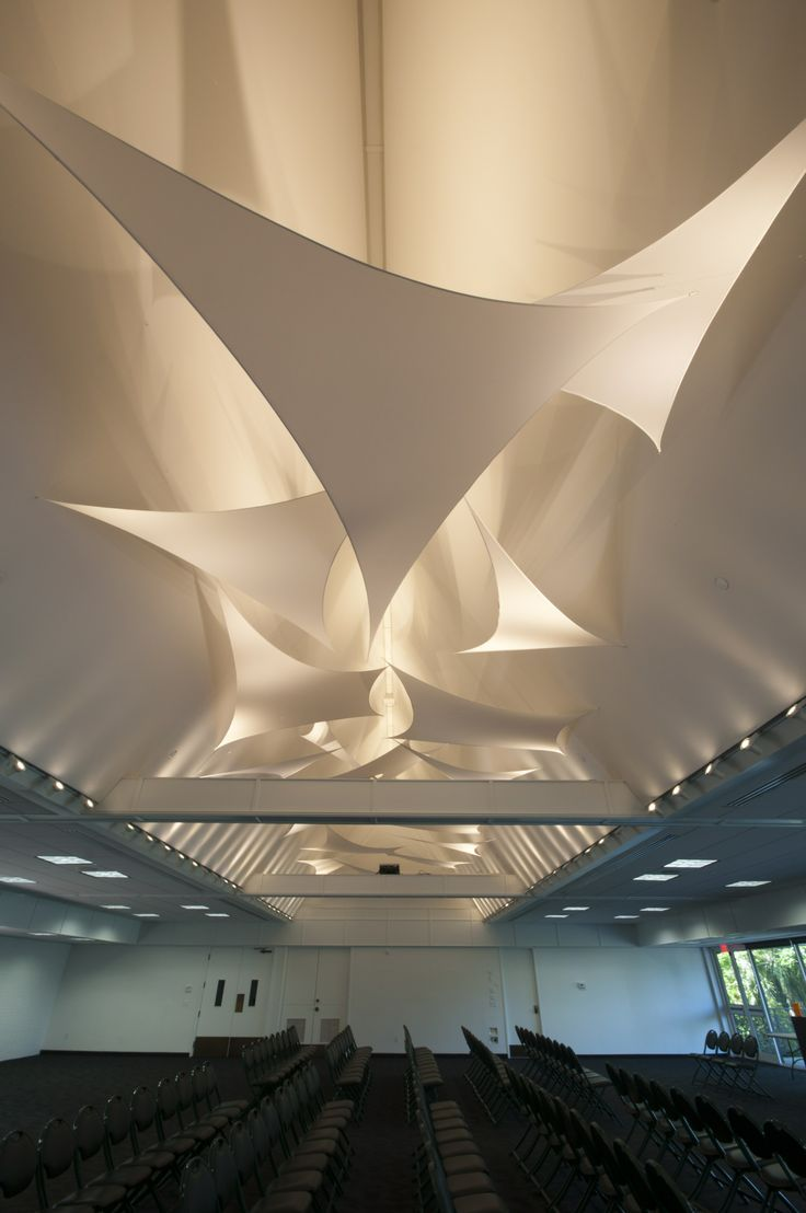 acoustical ceiling stretched fabric - Google Search