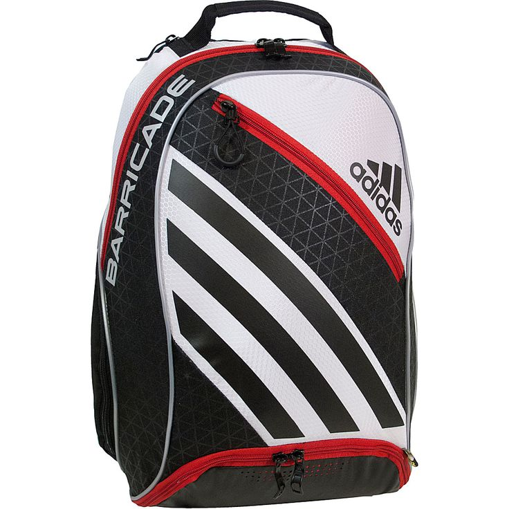 Image of adidas Barricade IV Backpack White/Black/Scarlet - adidas Racquet Bags