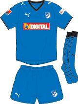 TSG Hoffenheim of Germany home kit for 2008-09.