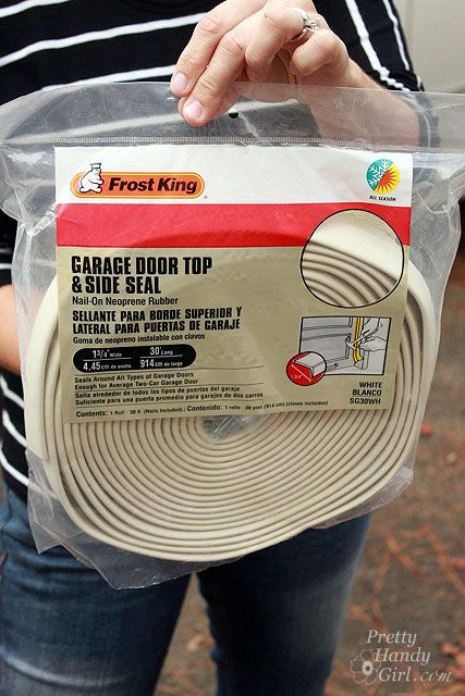 How to Weatherstrip Your Garage Doors - 31 Days of Handy Home Fixes