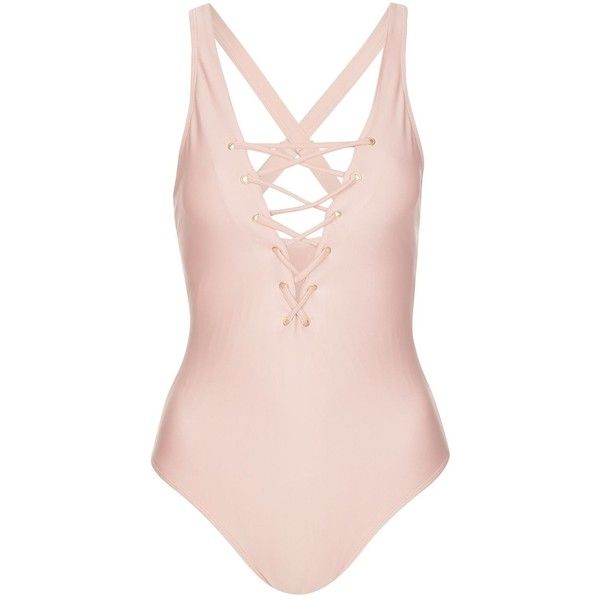 Fuller Bust Eyelet Swimsuit by Wolf & Whistle (370 UYU) ❤ liked on Polyvore featuring swimwear, one-piece swimsuits, swimsuits, bathing suits, bikini, bodysuits, nude, one-piece bathing suits, bathing suits bikini and one piece swim suit