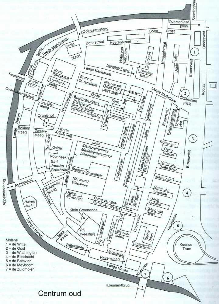 Kaart Oud Centrum Schiedam Kaarten