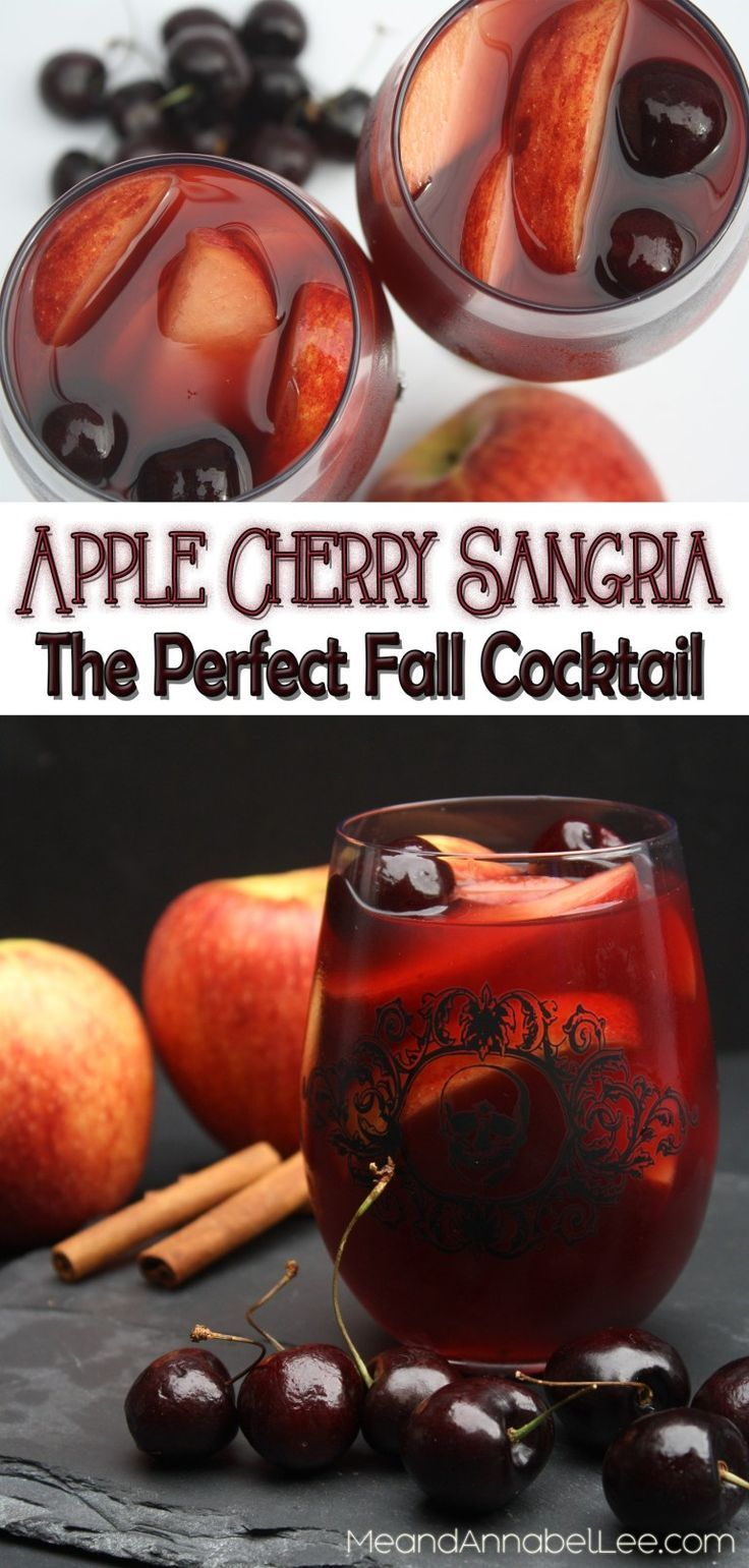 Red With Envy thanksgivingdrinksalcohol Apple sangria