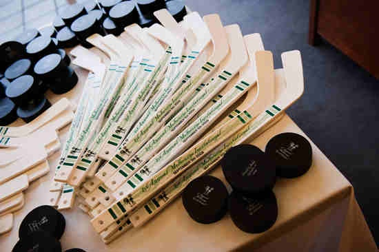 Wedding Favors for Hockey Fans…green, we like it! #mnwild