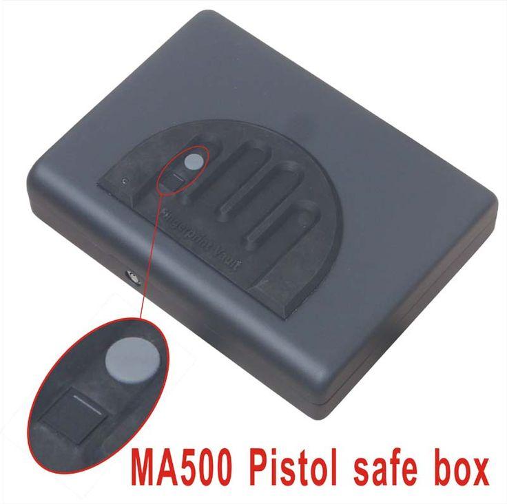 Wholesale MA500 Biometric Fingerprint Safe Box Key Gun Vault Jewelry Box Cable Portable Hot New Creative best gift #Affiliate