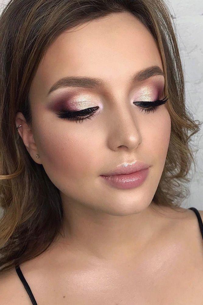 Свадебный макияж в розовых тонах фото этом