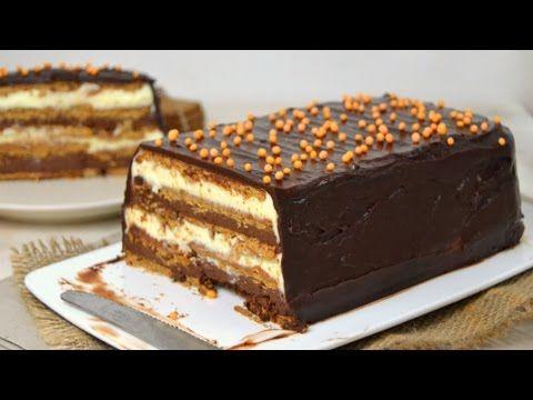 Tarta de dos chocolates con galletas ¡Sin horno! | Cuuking! Recetas de cocina