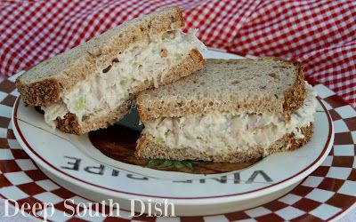 Old-Fashioned Deli Style Chicken Salad - Cooked chicken, celery, mayonnaise and a little pickle relish, makes up a classic, old-fashioned, deli style chicken salad. It's a favorite!