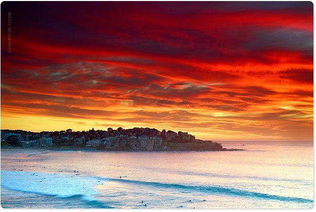 Bondi Beach by Aquabumps' Eugene Tan...wow beautiful sunset!