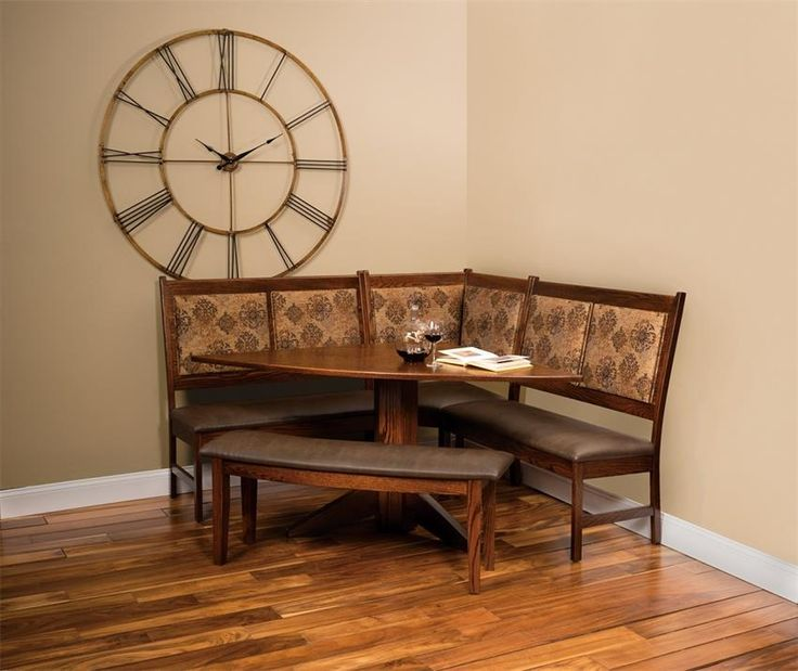 33 best amish breakfast nooks images on pinterest for 3 sided dining room table