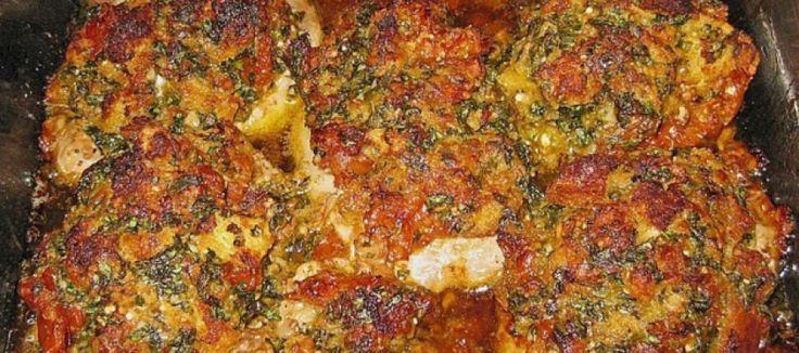 Varkensmedaillons gegratineerd met tomaat en Parmezaan   Lekker Tafelen