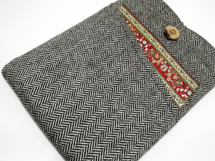"Herringbone 13 inch Macbook Case, Laptop Sleeve 13"" ,13.3 inc Macbook Sleeve, 13 inch macbook air case, 13 inch Laptop case, wool case 13"" by RCRAFTSS on Etsy"