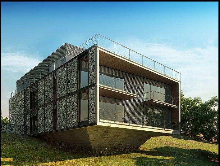 Gabions house house pinterest architecture gabion Gabion wall design