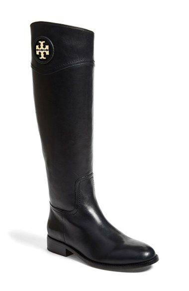 Free shipping and returns on Tory Burch 'Ashlynn' Wide Calf Riding Boot (Women) at Nordstrom.com. A leather-wrapped logo medallion adds signature Tory Burch polish to an always-elegant, equestrian-inspired boot crafted from supple, beautifully finished leather.