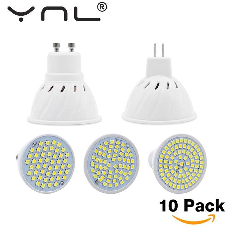 10 יח'\חבילה Led GU10 MR16 E27 E14 מנורת Led 220 V הנורה גבוהה בהיר Bombillas LED SMD2835 48/60/80 נוריות אור הזרקורים Lampara לבית