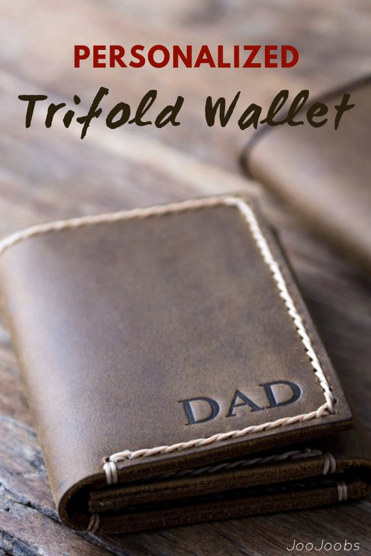 d3dbd4a2094d6 The Mens Trifold Wallet Personalized design is made from distressed leather