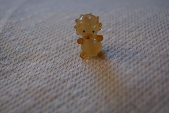 Bead glass amber Lion 20 x 15 x 13 mm by Henrysbeads on Etsy, $5.99