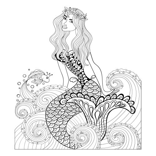 70 Best Advanced Fantasy Coloring Pages Images On