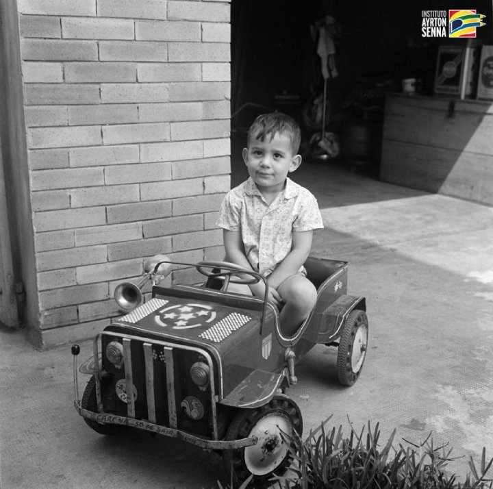 Ayrton Senna quando criança