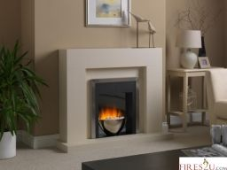 This chunky, modern electric fireplace suite has the benefit of easy installation which doesn't require any building work and also  that it comes with a Nitra Flame Curve flame picture. Simply place the Flamerite Cadenza 2 LED suite against any flat wall and plug in to enjoy the unique electric fire flame effect and fan heater.
