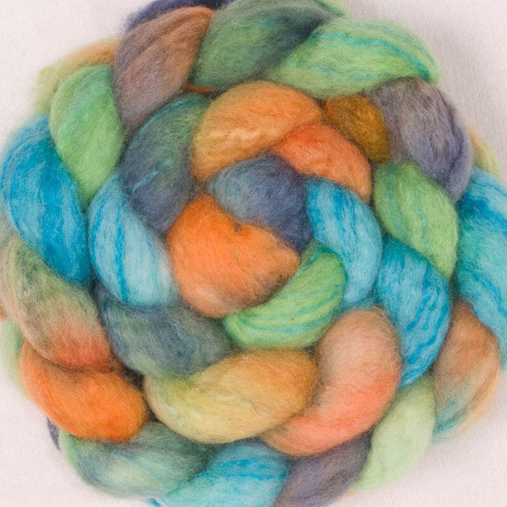 Excited to share the latest addition to my #etsy shop: Hand dyed roving, Extra fine Merino, Tops,  Tussah Silk, hand spinning, Felting projects, felting material, hand dyed top, spinning braid,