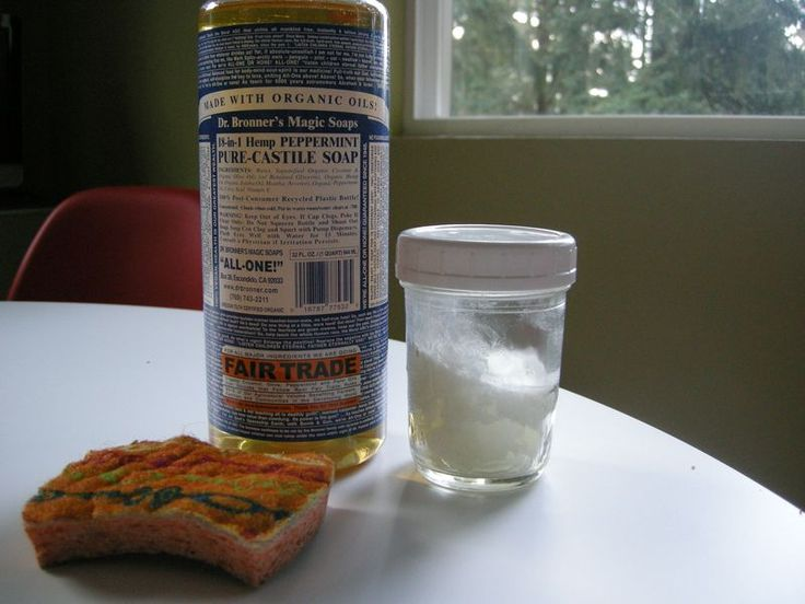 Cleaning leather car upholstery with castile soap and coconut oil