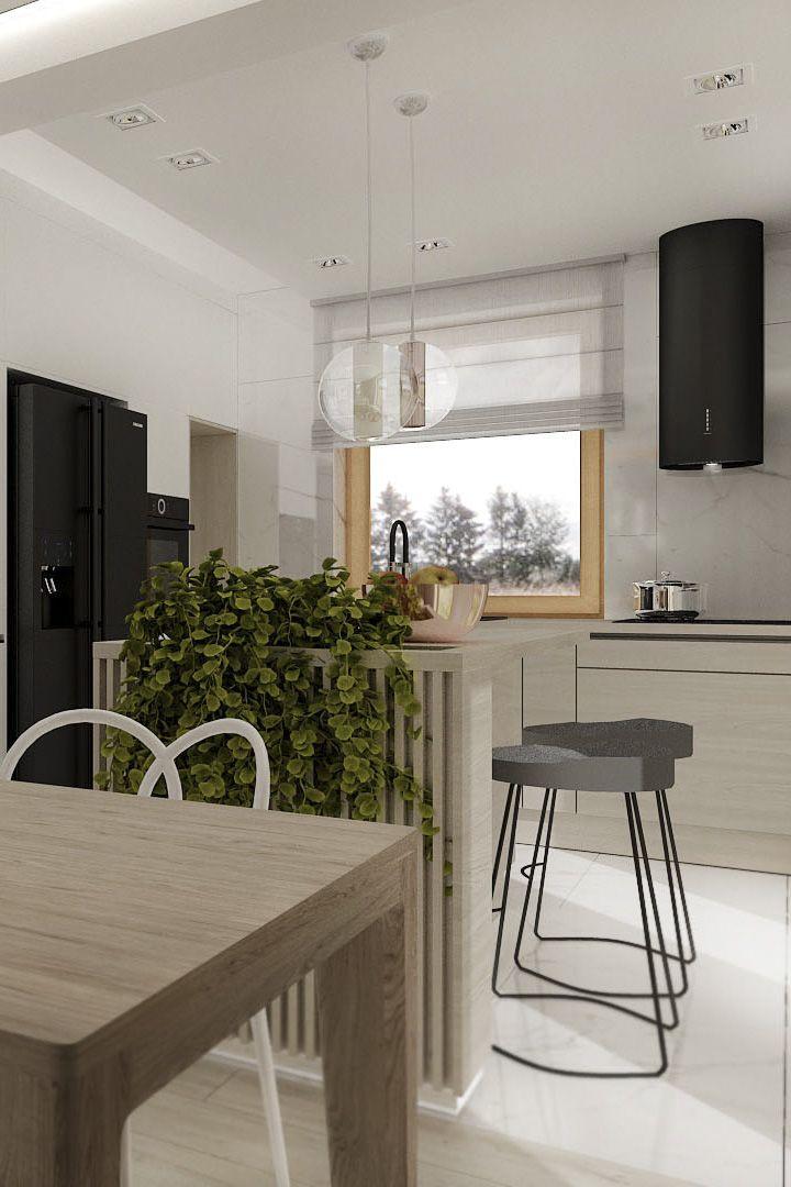 Jasna I Ciemna Kuchnia Z Wyspa Home Decor Furniture Decor