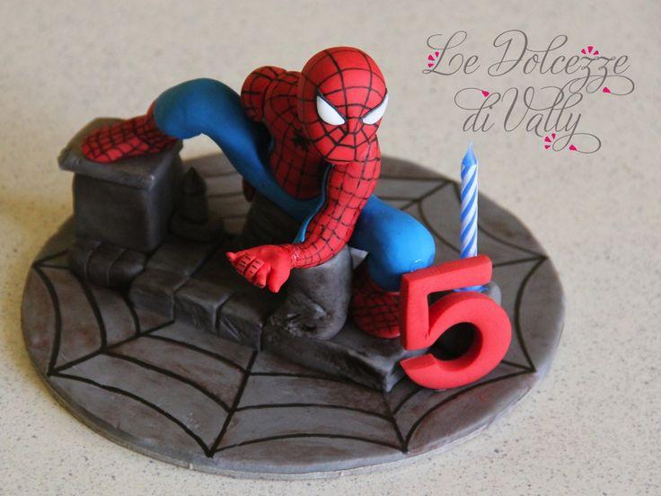 SPIDERMAN CAKE TOPPER - Cake topper Spiderman in sugar paste...