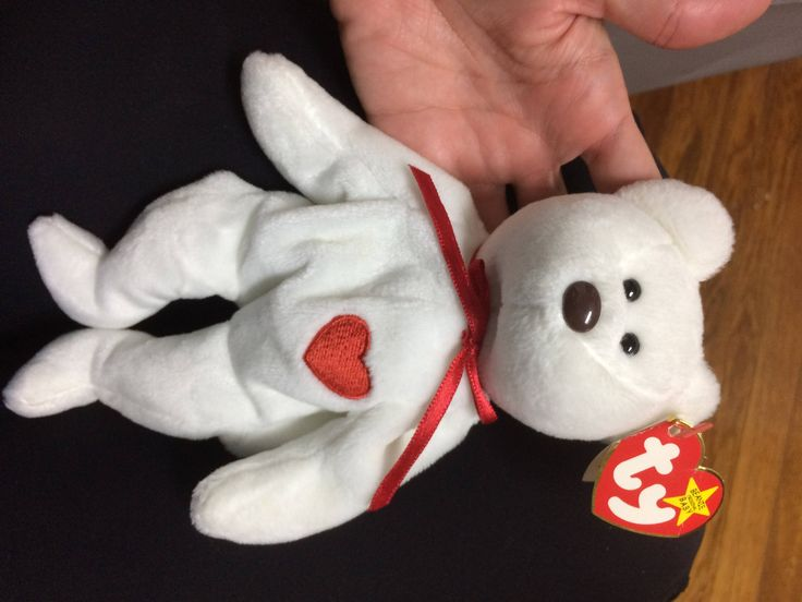 Rare Valentino Beanie Baby in EXCELLENT CONDITION by BeanieBabyLuvStore on Etsy