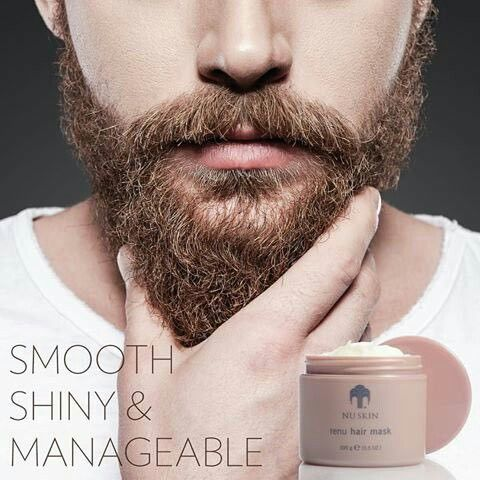 If you are a hot sexy man with a beard but you still want to be able to kiss your woman without jaggy, scratchy hair scraping her skin. Then the NU Skin Renu Hair Mask is perfect. It makes your beard smooth shiny and manageable. How to buy: Visit the website https://www.nuskin.com and enter in my Distributor ID :  UK3503908 to get a massive discount? Thanks!