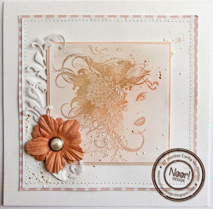 Noor! Design Floral Ladies Clearstempel 6410/0071 door Corina Holstein