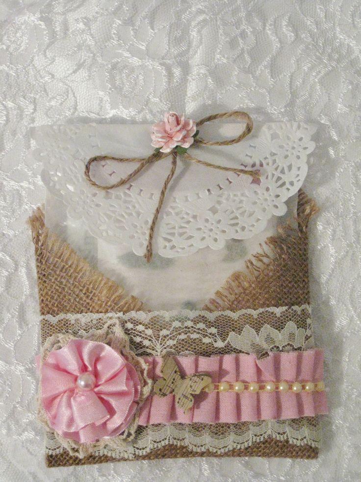 Altered Glassine Bag by Carmen Garcia