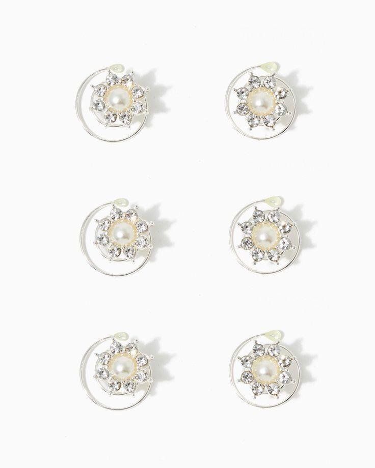 charming charlie | Pearl Twist Hair Pin Set | UPC: 410006595842 #charmingcharlie http://www.charmingcharlie.com/wedding/shop-by-style/classic-bride.html#limit=240&gan_data=true