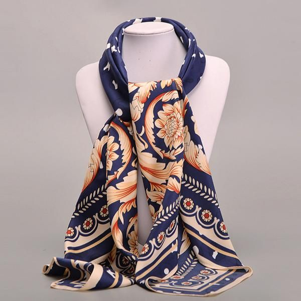Silk Square Scarf - Heartbird Blue Two by VIDA VIDA 5vE5YUBeTD