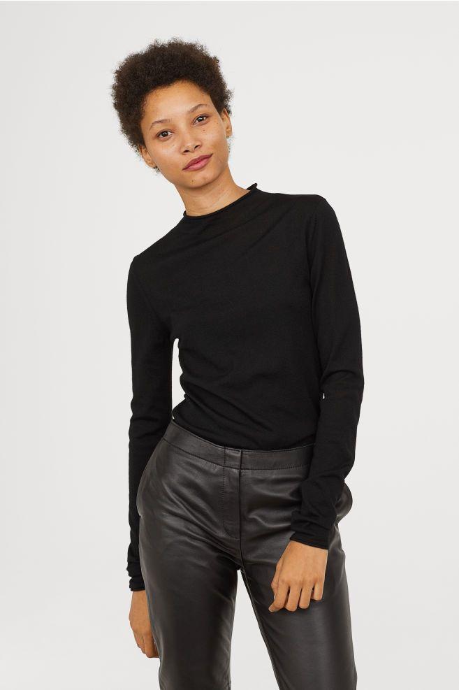 Merino Trui Dames.Trui Van Merinoswol Fw18 Merino Wool Sweater Black Sweaters En